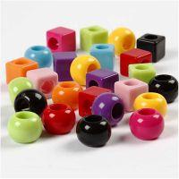 Mix multicolore, misura 11 mm, misura buco 7 mm, colori asst., 150 ml/ 1 conf., 75 g