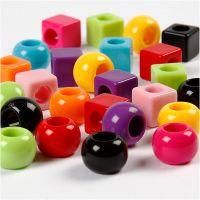 Mix multicolore, misura 11 mm, misura buco 7 mm, colori asst., 1700 ml/ 1 conf., 1000 g