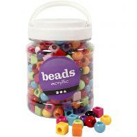 Mix multicolore, misura 11 mm, misura buco 7 mm, colori asst., 700 ml/ 1 vasch., 420 g
