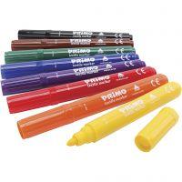 Marcatori tessili PRIMO, colori asst., 8 pz/ 1 conf.