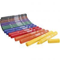 Marcatori tessili PRIMO, colori asst., 12x8 pz/ 1 conf.