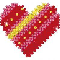 Diamond Dotz, cuore patchwork, misura 7,6x7,6 cm, 1 conf.