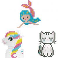 Diamond Dotz, gattino, sirena, pony, misura 18x10 cm, 1 conf.