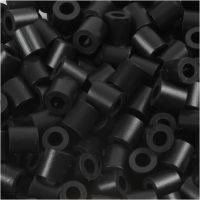 Perline a tubetto, misura 5x5 mm, misura buco 2,5 mm, medium, nero (32220), 1100 pz/ 1 conf.