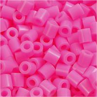 Perline a tubetto, misura 5x5 mm, misura buco 2,5 mm, medium, rosato (32222), 6000 pz/ 1 conf.