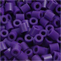 Perline a tubetto, misura 5x5 mm, misura buco 2,5 mm, medium, viola scuro (32234), 1100 pz/ 1 conf.