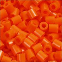 Perline a tubetto, misura 5x5 mm, misura buco 2,5 mm, medium, arancio chiaro (32233), 1100 pz/ 1 conf.