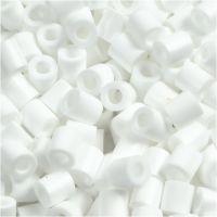 Perline a tubetto, misura 5x5 mm, misura buco 2,5 mm, medium, bianco (32221), 1100 pz/ 1 conf.