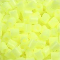 Perline a tubetto, misura 5x5 mm, misura buco 2,5 mm, medium, giallo pastello (32244), 6000 pz/ 1 conf.