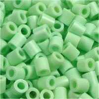 Perline a tubetto, misura 5x5 mm, misura buco 2,5 mm, medium, verde pastello (32252), 1100 pz/ 1 conf.