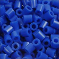 Perline a tubetto, misura 5x5 mm, misura buco 2,5 mm, medium, blu scuro (32232), 1100 pz/ 1 conf.