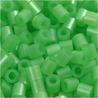 Perline a tubetto, misura 5x5 mm, misura buco 2,5 mm, medium, verde madreperlato (32240), 1100 pz/ 1 conf.