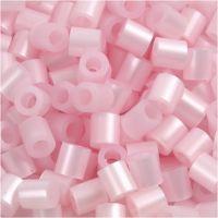 Perline a tubetto, misura 5x5 mm, misura buco 2,5 mm, medium, rosato madreperlato (32259), 1100 pz/ 1 conf.