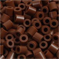 Perline a tubetto, misura 5x5 mm, misura buco 2,5 mm, medium, cioccolato (32249), 6000 pz/ 1 conf.