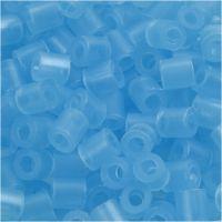 Perline a tubetto, misura 5x5 mm, misura buco 2,5 mm, medium, blu neon (32235), 1100 pz/ 1 conf.