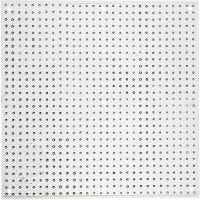 Pannello forato, grande quadrato, misura 14,5x14,5 cm, 10 pz/ 1 conf.