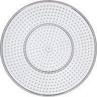 Pannello forato, grande rotondo, diam: 15 cm, transparent, 1 pz