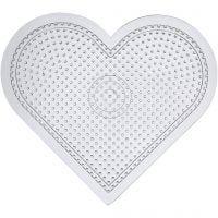 Pannello forato, cuore grande, H: 15 cm, transparent, 10 pz/ 1 conf.