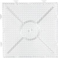 Pannello forato, Quadrato grande da costruire, misura 15x15 cm, transparent, 1 pz