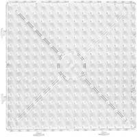 Pannello a pioli, quadrato grande, misura 15x15 cm, JUMBO, transparent, 1 pz