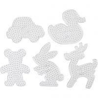 Tappetini con pioli, misura 16x19,5-19x24 cm, JUMBO, transparent, 5 pz/ 1 conf.