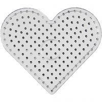 Pannello a pioli, cuore, JUMBO, transparent, 1 pz
