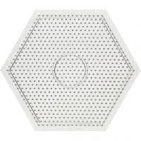 Pannello forato, esagono grande, misura 15x15 cm, 10 pz/ 1 conf.