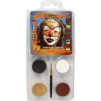 Pittura facciale Eulenspiegel - set tema, leone, colori asst., 1 set