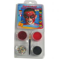 Pittura facciale Eulenspiegel - set tema, spiderman, colori asst., 1 set