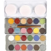 Pittura facciale a base d'acqua, colori asst., 24 color/ 1 set