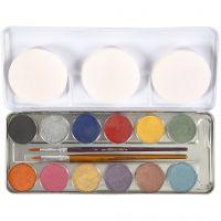 Pittura facciale a base d'acqua, colori perlati, 12 color/ 1 set