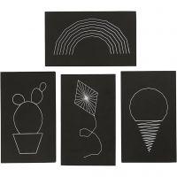 String Art, misura 20x12 cm, spess. 10 mm, nero, 16 pz/ 1 conf.