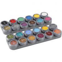 Tavolozza trucco viso a base d'acqua, colori asst., 24x2,5 ml/ 1 pz