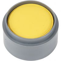 Pittura facciale a base d'acqua, giallo, 15 ml/ 1 vasch.
