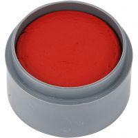 Pittura facciale a base d'acqua, rosso chiaro, 15 ml/ 1 vasch.