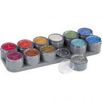 Tavolozza trucco viso a base d'acqua, colori perlati, 12x15 ml/ 1 pz