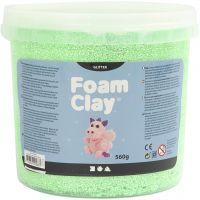 Foam Clay® , glitter, verde, 560 g/ 1 secch.