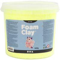 Foam Clay® , glitter, giallo, 560 g/ 1 secch.