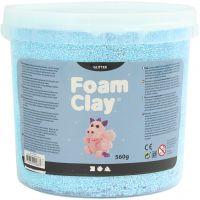 Foam Clay® , glitter, azzurro, 560 g/ 1 secch.