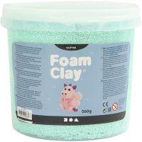 Foam Clay® , glitter, verde chiaro, 560 g/ 1 secch.