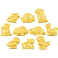 Stampini, dinosauri, misura 4,5-6 cm, 10 pz/ 1 conf.