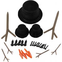 Cappelli, nasi e rami, misura 2,3-7 cm, 3 set/ 1 conf.
