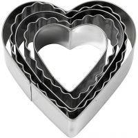 Formine tagliabiscotti, cuore, misura 8 cm, 5 pz/ 1 conf.