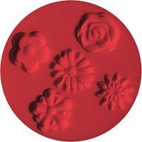 FIMO stampo, fiori, diam: 7 cm, 1 pz