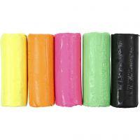 Pasta modellabile, H: 9,5 cm, colori neon, 400 g/ 1 secch.