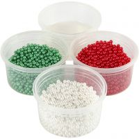 Pearl Clay® , verde, rosso, bianco, 1 set, 3x25+38 g