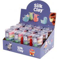 Silk Clay®, colori neon, colori standard, 12 set/ 1 conf.