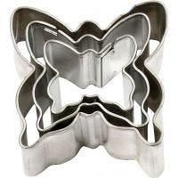 Formine in metallo, farfalla, misura 40x40 mm, 3 pz/ 1 conf.