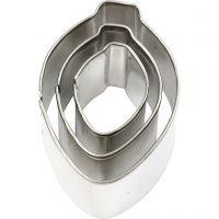 Formine in metallo, ornamento, misura 30x40 mm, 3 pz/ 1 conf.