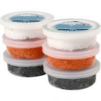 Foam Clay® , nero, arancio, bianco, 6x14 g/ 1 conf.